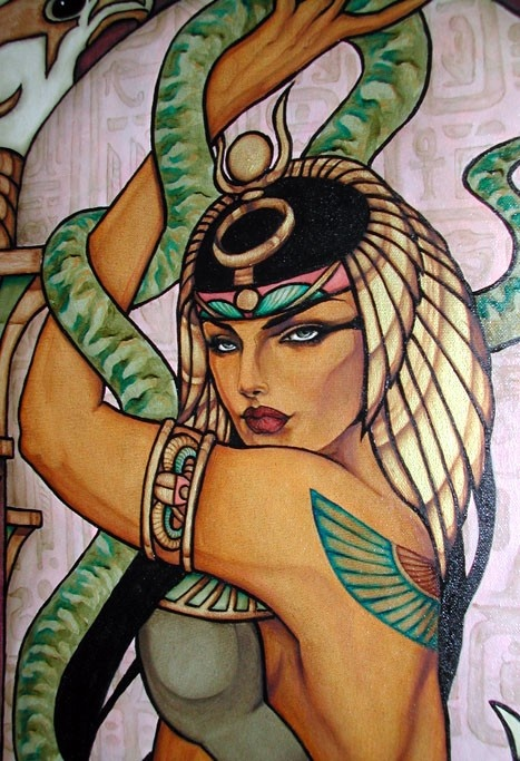 Cleopatra - Original Oil Paintinh