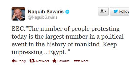 Egypt Tweet